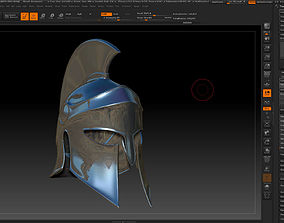 greek helmet-3d print model