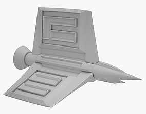 gameready Sci-fi Ship 02 3D PRINT