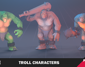 Troll Character 3D asset animated