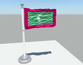 Maldives flag 3D model