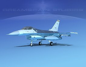 3D model Gen Dyn F-16A Falcon Singapore