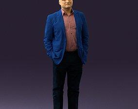 3D print model Man in blue suit top jeans 0604