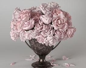 Roses in vase 3D model