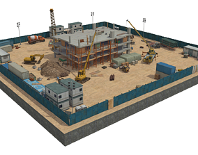 3D asset Under Construction Scene 3