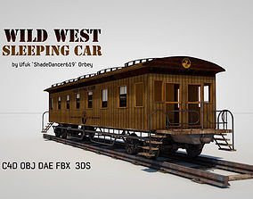 3D model Wild West Sleeping Car