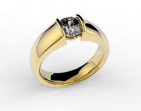 3D print model ring one carat