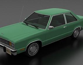 3D model realtime Ford Fairmont 2dr sedan 1978