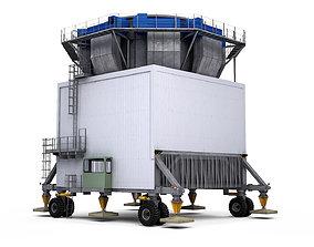 3D model Mobile Bulk Cargo Hopper Gantry Crane