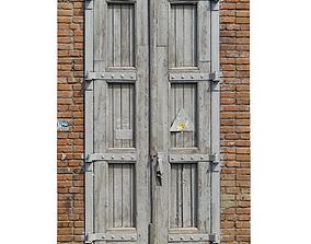 3D model Old high door grey scan 35