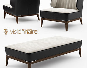 3D Blondie leather armchair and bench - Visionnaire Home