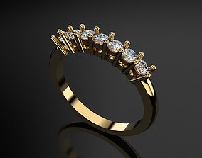 3D printable model Solitaire Ring With Diamonds design