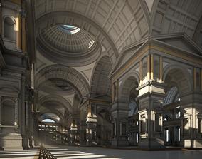 3D hallway Hall of an Ancient Palace
