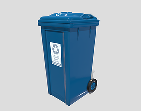 Recycle bin 3D model game-ready