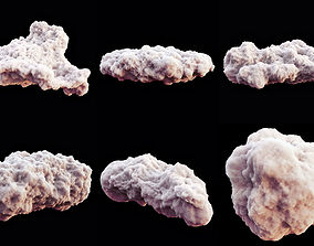 Clouds Pack High Poly 3D model