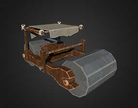 3D asset Stone Age Car