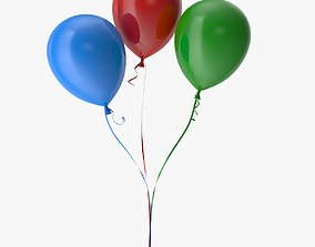 Colorful Balloons 3D model