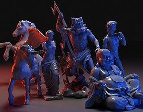 Famous Sculptures Collection 3D