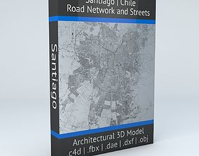 Santiago Area Road Network and Streets 3D