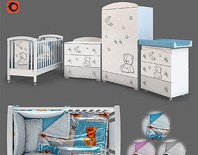 linens Baby furniture set Stella 3D model