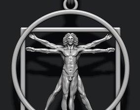 3D printable model Vitruvian Man pendant