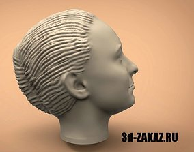 Head of a young girl 3D printable model
