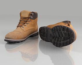 3D asset Casual winter boots