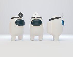 Among Us Head Reflector Character 3D model