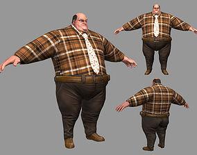 Fat Man 3D asset