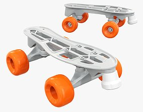 Quad roller skates 3D model