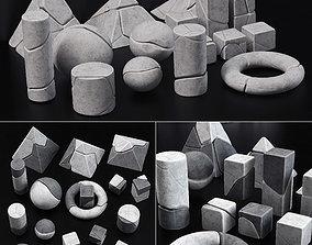 Stone splinter geometry decorative n1 3D