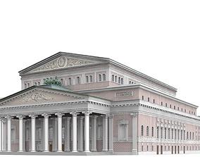Bolshoi Theatre 3D model fountain