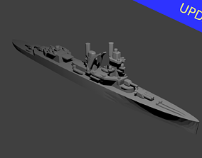 battle Dutch Cruiser De Ruyter Warship 3D print model