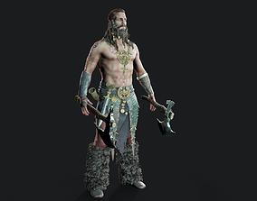 Viking 3D asset low-poly