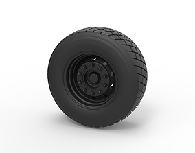 Diecast Front wheel from truck 3D printable model