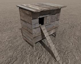 3D asset Medieval Wooden Coop