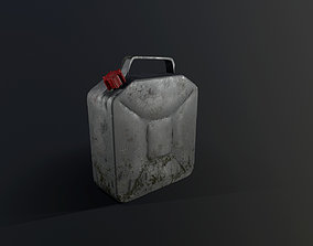 Aluminum canister with plastic plug 3D model