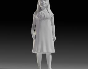3D printable model Little girl figurine
