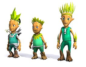 Cartoon Character Set 01 - Tree People 3D model
