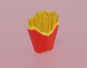 3D asset French Fries FastFood