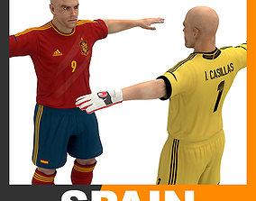 Football Player and Goalkeeper - Spain National Team 3D