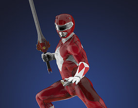 3D printable model Power Ranger Red Statue