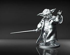 3D printable model Yoda Bookend