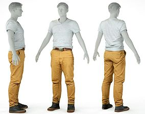 3D model Male Casual Outfit 27 Tshirt Pants Shoes