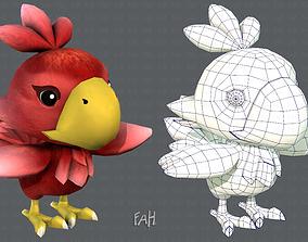 Chocobo Bird 3D model VR / AR ready