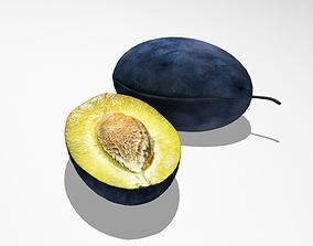 3D Blue plum fresh