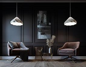 3D Simple Livingroom - Darkroom