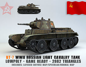 Low Poly BT-7 light cavalry tank 3D model realtime