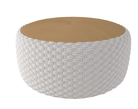 3D model Pouf Braided Knot MAISONS DU MONDE