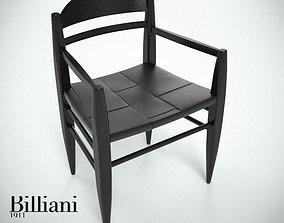 3D model Billiani Vincent VG armchair black