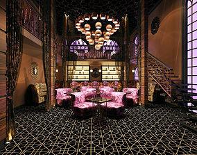 restaurant interior 3D model nightclub